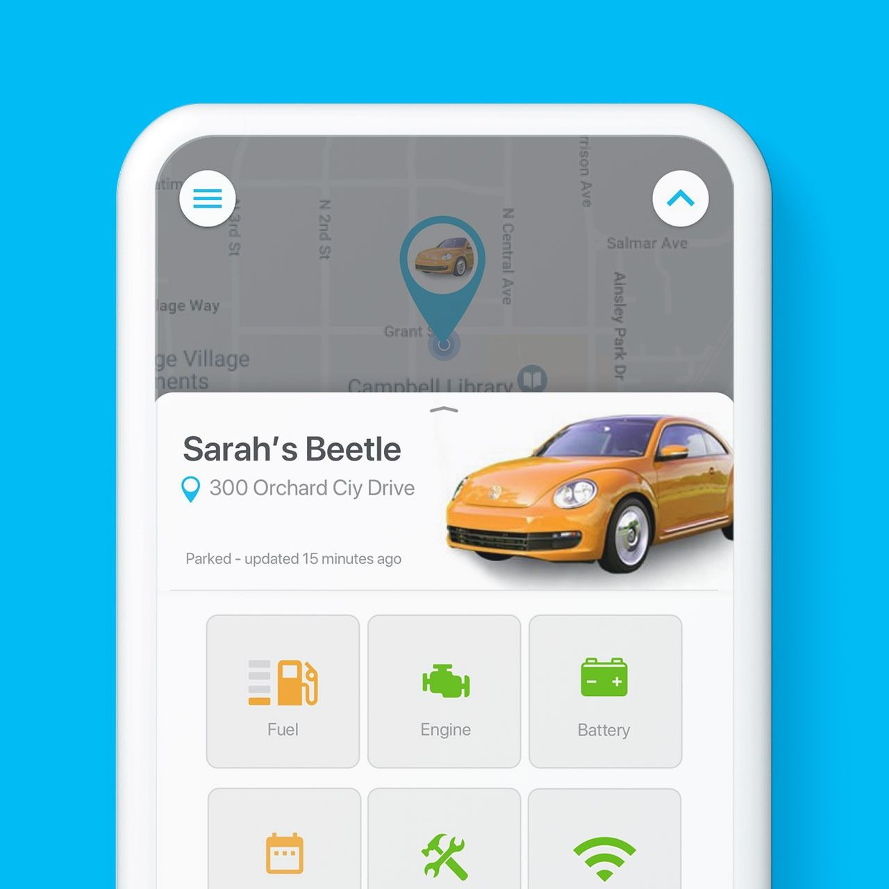 Connected Car App screenshot