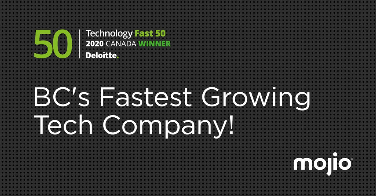 Mojio Named British Columbia's Fastest Growing Company in the 2020 Deloitte Technology Fast 50™ Awards