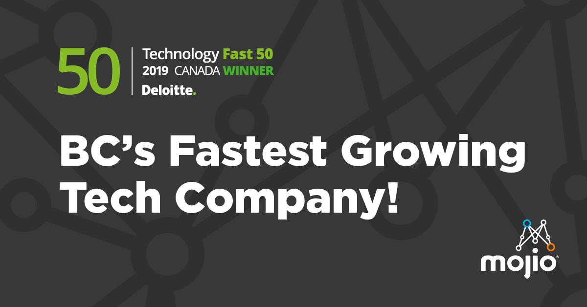 Mojio Named British Columbia's Fastest Growing Company in the 2019 Deloitte Technology Fast 50™ Awards