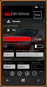 Connected Car App Easy Auto Log Windows Phone