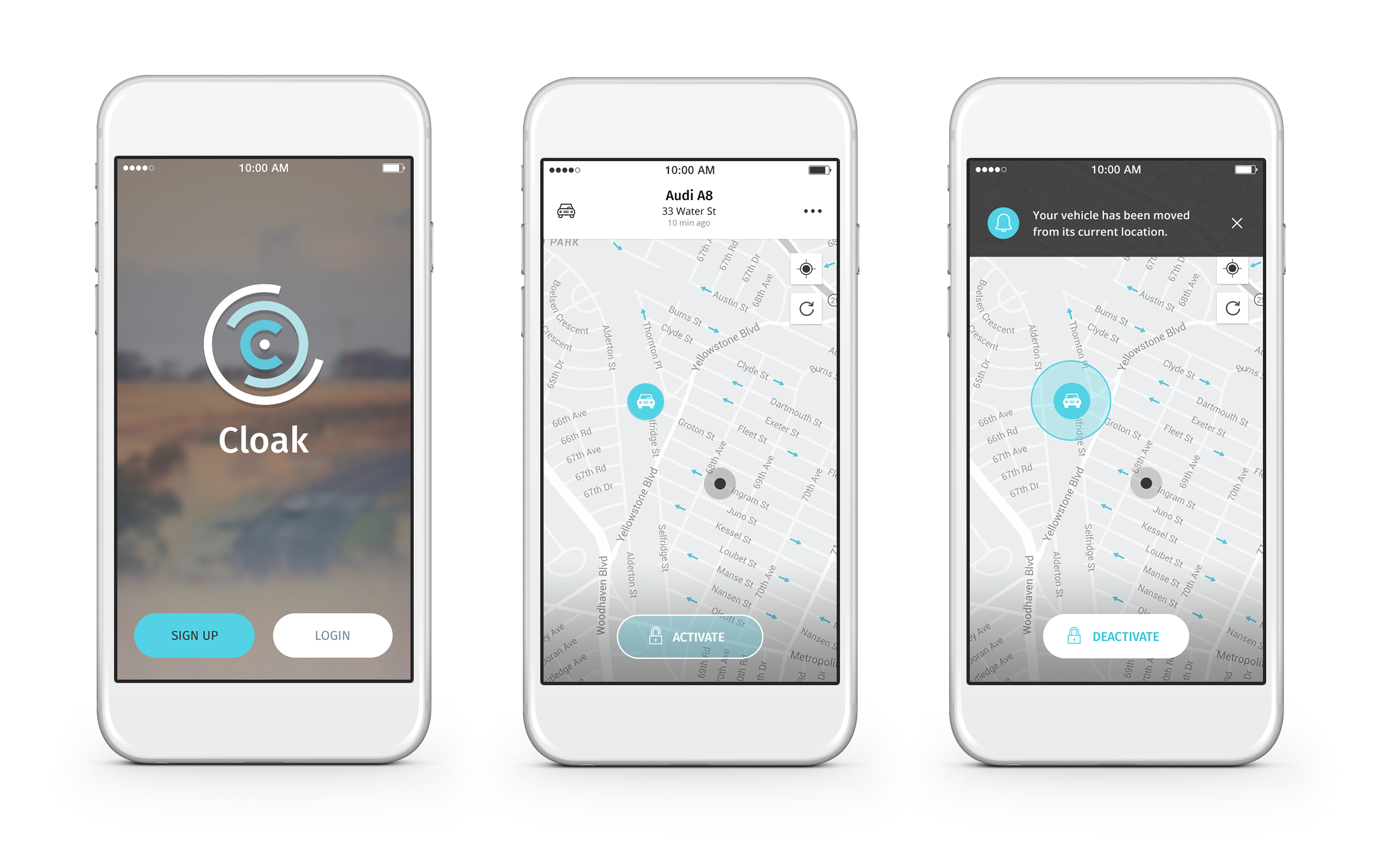 Connected Car App Mojio Cloak